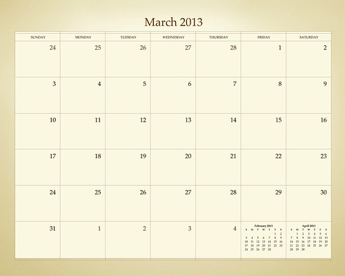 ADIDAP 2013 Calendar - retro - UK