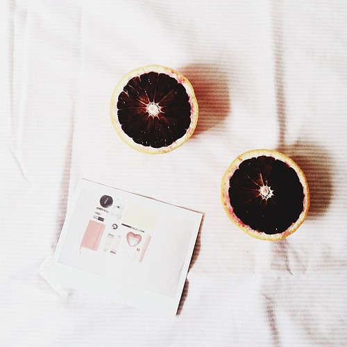 blood oranges & polaroids. also known as packing procrastination.