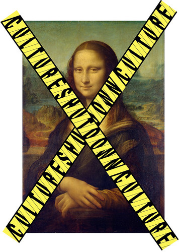 <p>Day of Museum Solidarity: The Mona Lisa is symbolically &quot;erased&quot; to support Bosnian cultural institutions that are being forced to close their doors.</p>