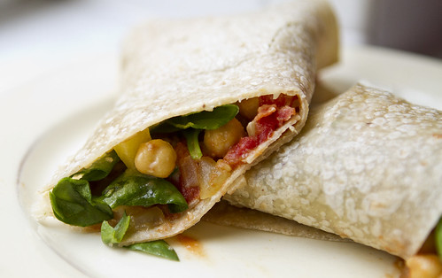 indian vegetarian wrap