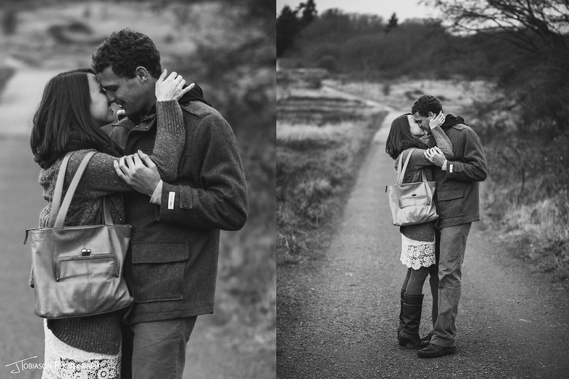 Kissing Diptic | JTobiason Photography | Seattle Wedding Photographer