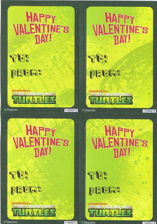 "AMERICAN GREETINGS :: ""NICKELODEON"" TEENAGE MUTANT NINJA TURTLES - VALENTINE STICKER CARDS v (( 2012 ))"