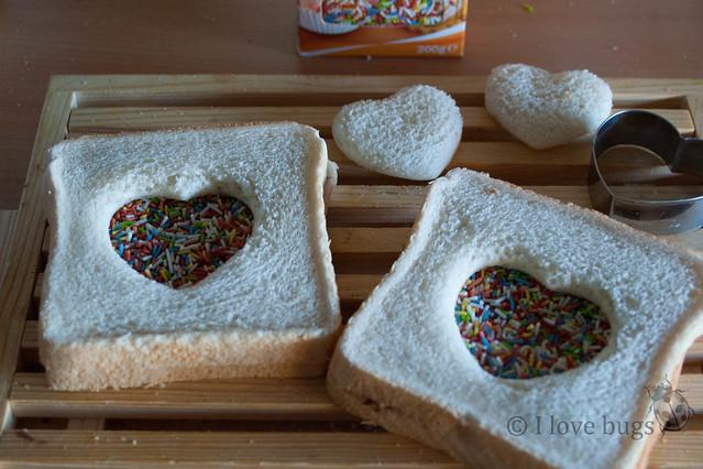 Sandwiches de San Valentín