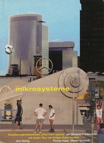 Cover des Buches Mikrosysteme, KünstlerorganisatorInnen, Artist Front Spaces am Beispiel Frankfurt. 1998