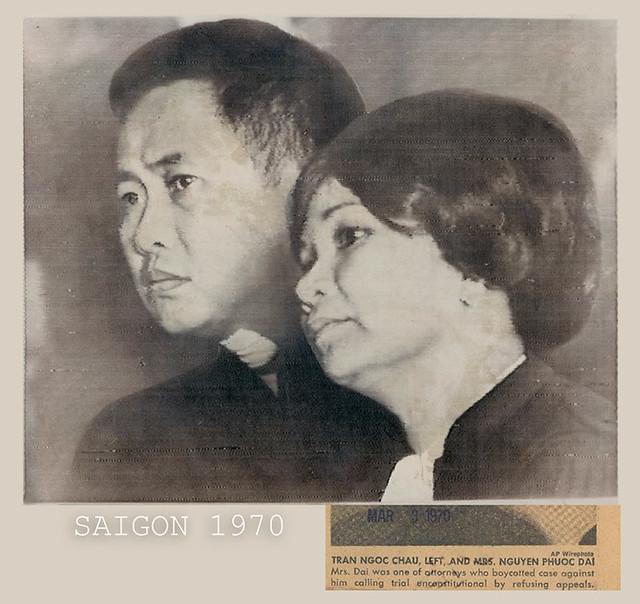 1970 Tran Ngoc Chau & Mrs Nguyen Phuoc Dai - Wire Photo