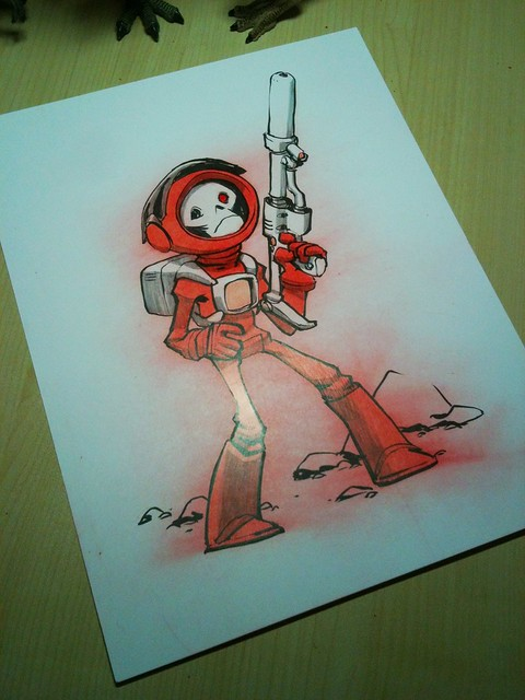 Spaceskull original drawing