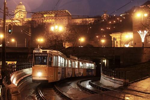 Ganz CSMG2 tram #1341 passes Buda Castle