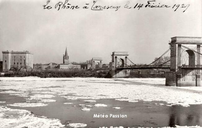 embâcle et glaces du Rhône lors de la journée glaciale du 14 février 1929 météopassion