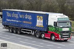 Volvo FH 6x2 Tractor - PX11 BZM - Rose Gwyneth - Eddie Stobart - M1 J10 Luton - Steven Gray - IMG_2291