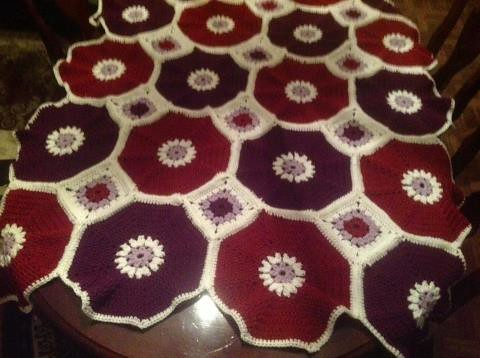 Octagon Baby Afghan Crochet Pattern : Octagon & Squares Throw Challenge by The Crochet Crowd ...