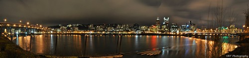 Portland at Night Panorama.