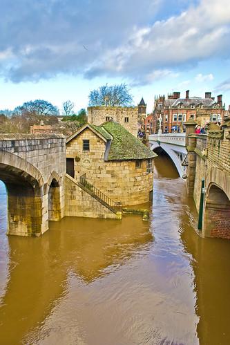 Flooded River Ouse - York England