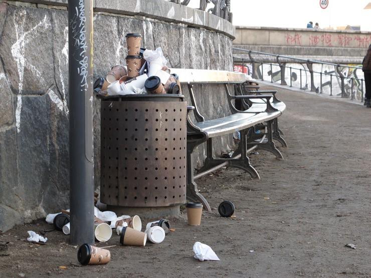 Cup litter
