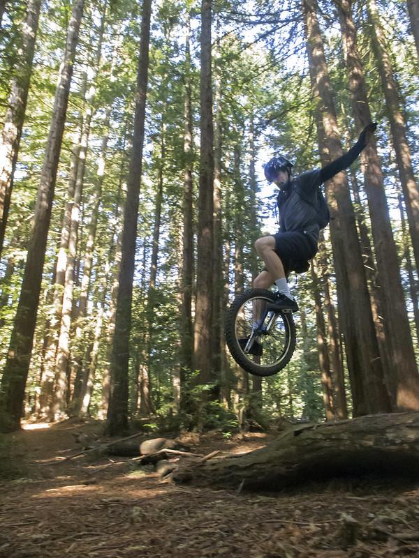 Josh getting big air on the jump
