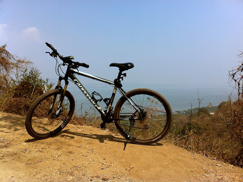 Mountain biking at Elephanta