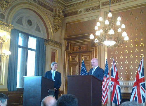 Secretary Kerry and UK Foreign Secretary Hague Address Reporters by U.S. Department of State
