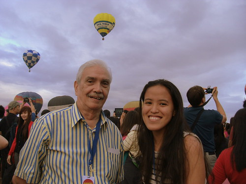 Lolo and I at the Hot Air Balloon Festival in Clark, Pampanga