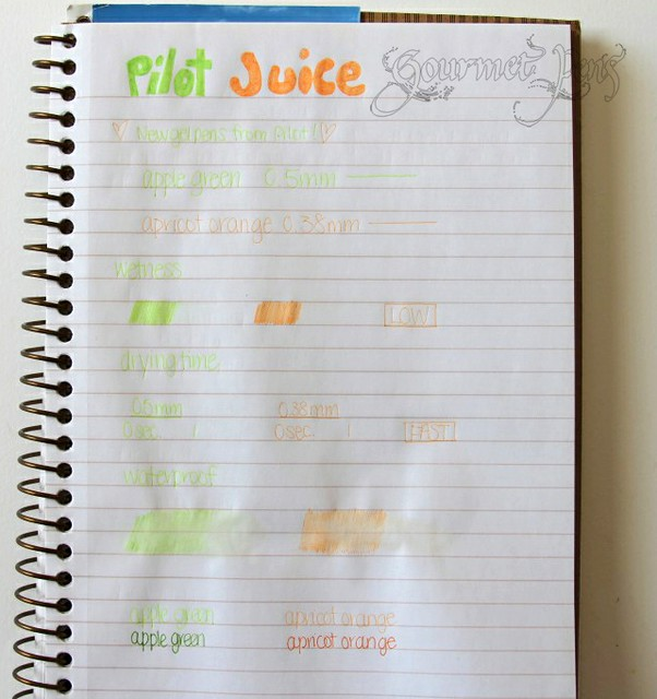 Pilot Juice Writing Sample