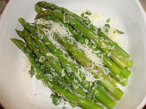 Rocco DiSpirito's asparagus with pecorino romano