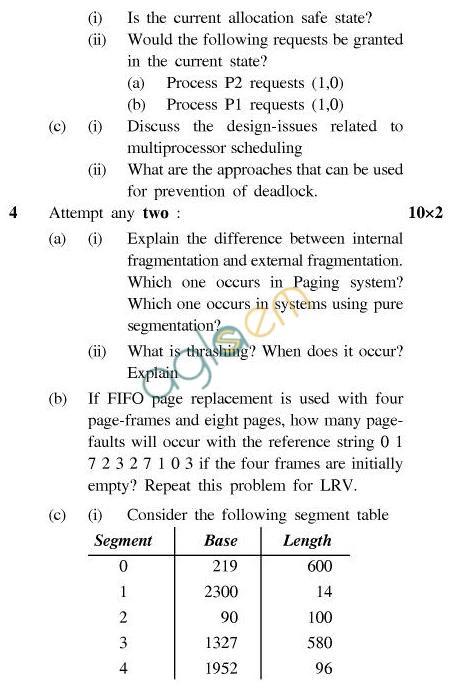 UPTU B.Tech Question Papers - CS-403-Operating System