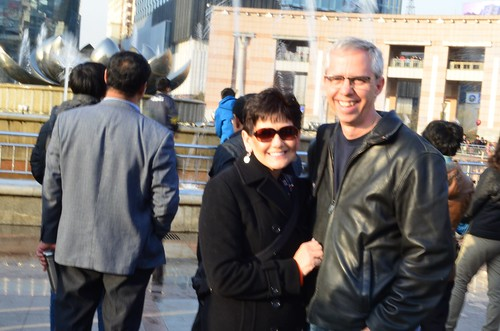 March 2 in front of the Lilly in Jinan