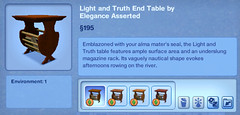 Light and Truth End Table by Elegance Asserted