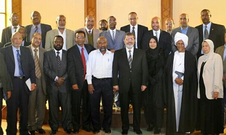 Egyptian President Mohamed Morsi meeting with the Nubian community from the southern regions of this North African state. The Nubians demanded an end to marginalization. by Pan-African News Wire File Photos