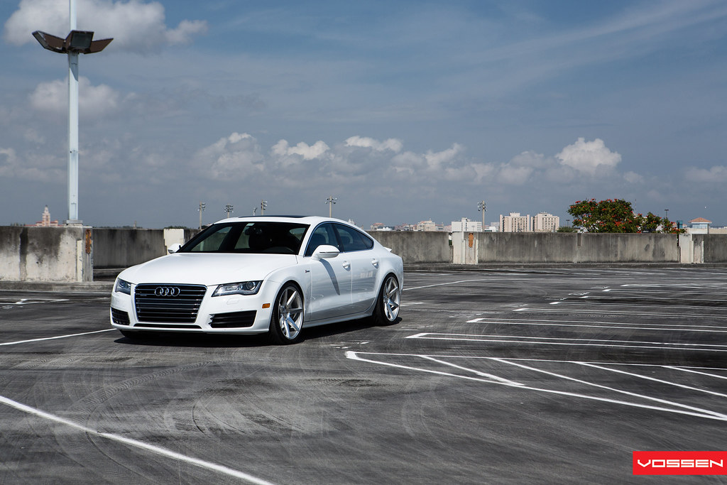 Audi A7 White With Black Rims