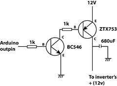 how to get what you want sine wave inverter circuit diagram i used similar approach to the small el inverter hack control the dc current going into the whole inverter system here is the circuit i added to the