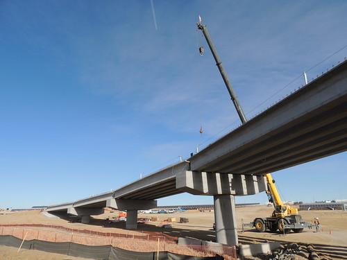 Photo of Third Creek commuter rail bridge at Denver International Airport