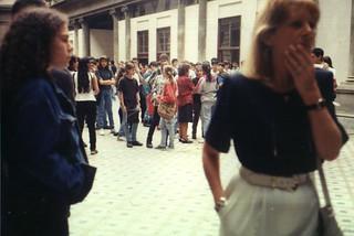 Primer día de clases escuela Mariano Moreno - Buenos Aires Argentina -  1994