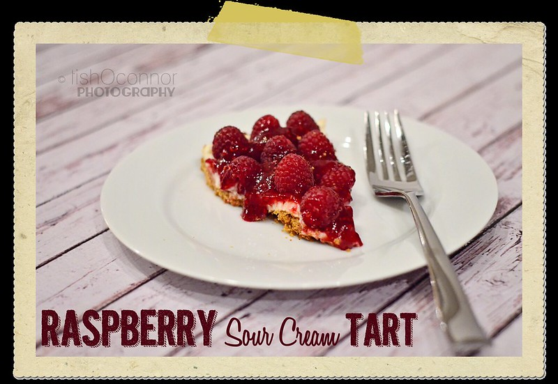 Raspberry Sour Cream Tart title