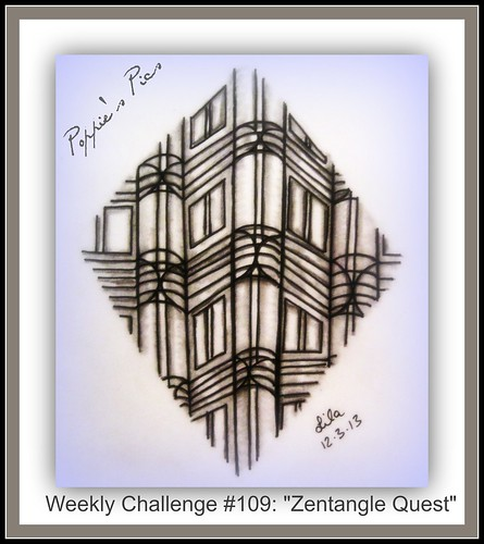 Weekly Challenge #109 a Zentangle Quest by Poppie_60