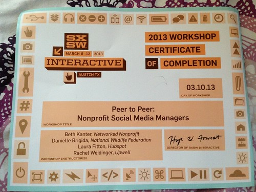 Thumbnail for SXSW 2013 - Are You A Social Media Nonprofit Manager Looking for Your Peers? #npsmpeer
