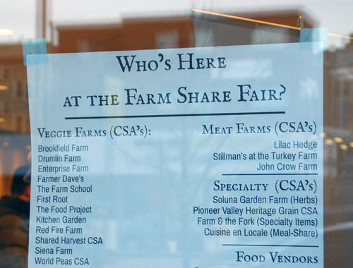 Sign: who's at the farm share fair?