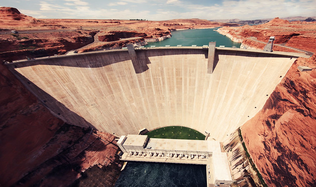 Glen Canyon Dam panorama