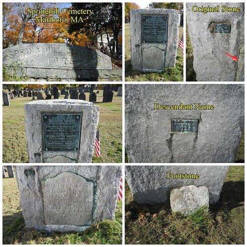 Ward Gravestone Collage by midgefrazel