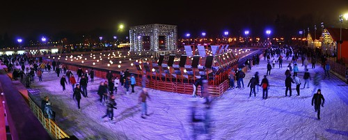 Park Kultury & Pista de patinaje en el hielo