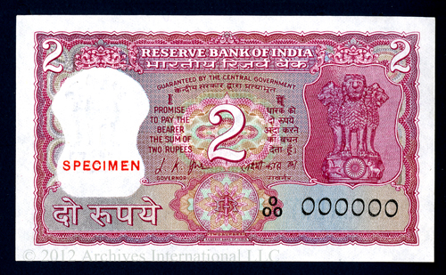 Reserve Bank of India 2 Pupees