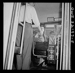 A Woman Operating DC Streetcar: 1943