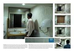 Use of 'mirror' in the TATA AIG advertising campaign in India