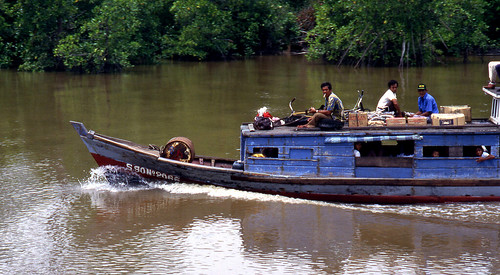 Travelers, Kampar River, Sumatra, Indonesia January 1988