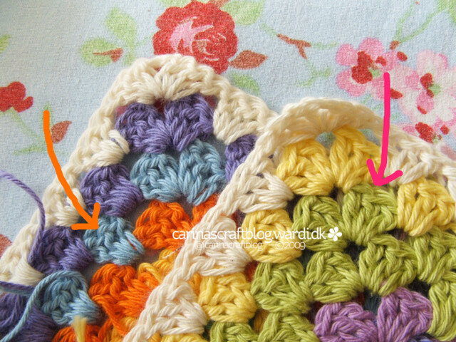 Crochet tutorial: joining granny squares 4