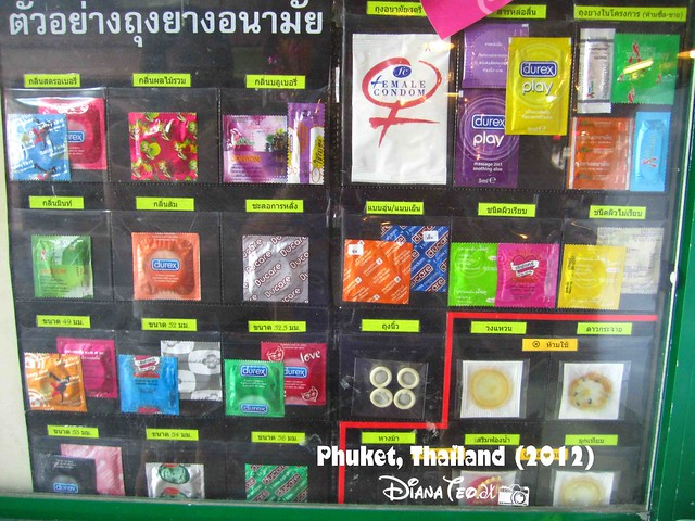 Phuket Day 4 - Condom on Notice Board
