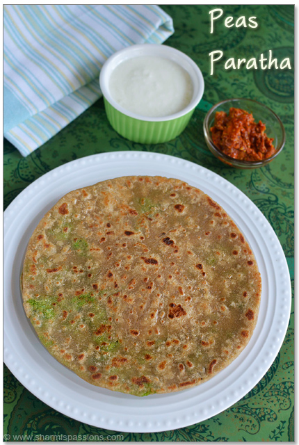 Peas Paratha Recipee