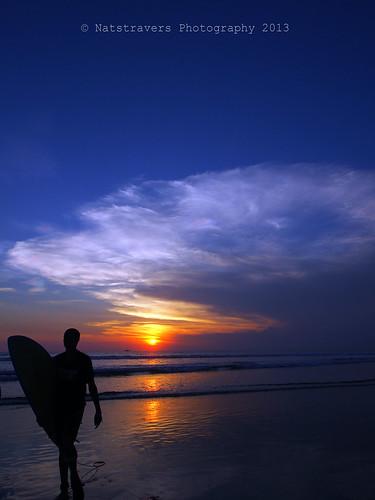 sunset bali seascape beach indonesia olympus kuta natstravers