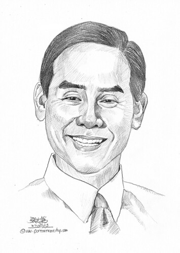 Pencil portrait for Chinese Swimming Club Dennis Ng - 28