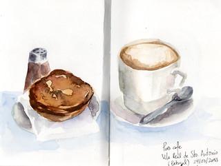 Café y natas en Portugal