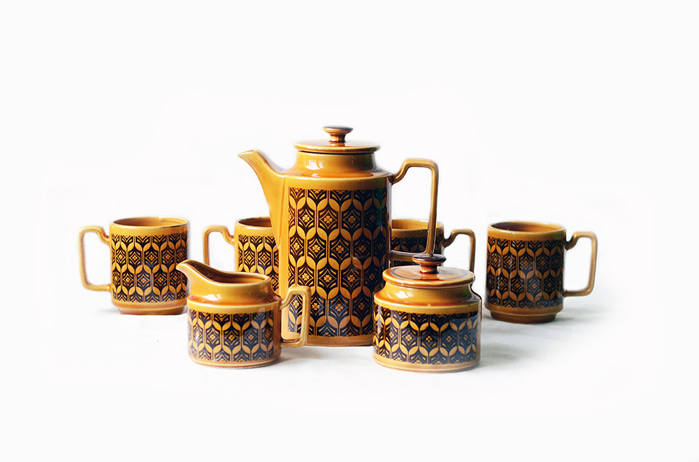 Vintage Japanese 7-Pierce Coffee Set