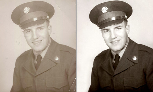Before & After - Military Portrait